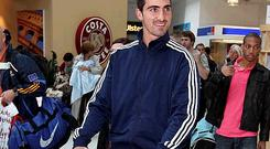 Ruan Pienaar arrives at George Best Belfast City Airport