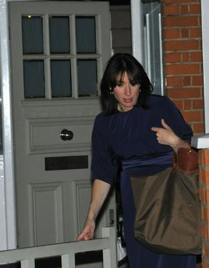 Samantha Cameron, wife of Britain's new  Prime Minister David Cameron, returns to the London family home, soon after her husband was asked by Britain's Queen Elizabeth II to form the next government on Tuesday May 12, 2010