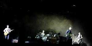 L-R The Edge, Larry Mullen, Bono and Adam Clayton of U2 perform onstage on the first night of their 360 tour held at Camp Nou on June 30, 2009 in Barcelona, Spain.