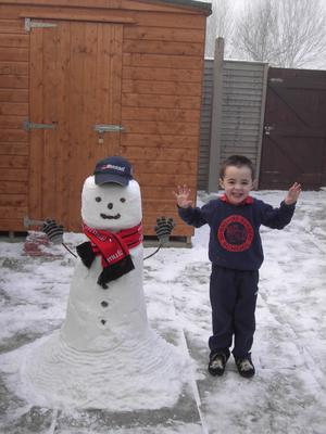 ross , and alfie the snowman. By  ross clarke