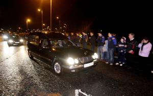 The remains of murdered honeymooner Michaela McAreavey return home last night from Mauritius.