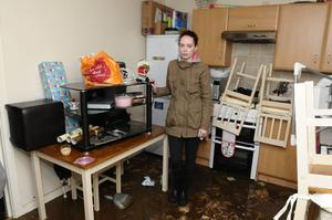 Catherine Ferguson whose home at Bealaghmor was flooded in the Ballymagroarty area