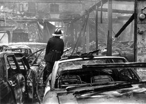 EXPLOSIONS: BELFAST: BLOODY FRIDAY. 21ST JULY 1972.The IRA set off 26 explosions in Belfast, which killed 11 people and injured 130. 7 people were killed in Oxford Street bus station and 4 at a shopping centre on the Cavehill Road.  21/7/1972