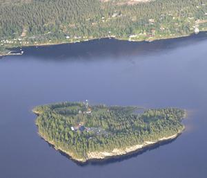 An aerial view of Utoya Island, Norway taken Thursday, July 21, 2011