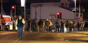 Loyalists protesting, blocking traffic in Derry