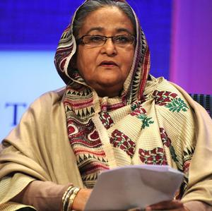 The military said it foiled a plot to overthrow the government of prime minister Sheikh Hasina (AP)