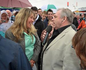Uncle Hugo entertains the crowds at the Balmoral show