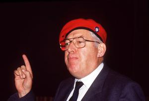 Ian Paisley at an Ulster Says No rally in Ballymoney 1986
