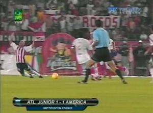<b>Emerson Acuna</b><br/>  Possibly the funniest dive of all time occurred in Columbia. Atletico Junior were being held at home by America when Acuna was put through on goal. Clear of the last man, Acuna was hacked down by an invisible defender. Incredibly, the referee gave a penalty which was duly converted.