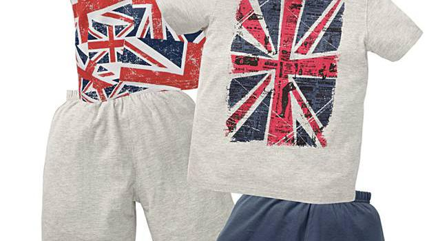 <b>1. Next</b>  £17 ,next.co.uk  Get into the spirit of the Olympics with this two-pack set from Next, featuring mix and match grey and navy shorts and tops with Union Jack design.