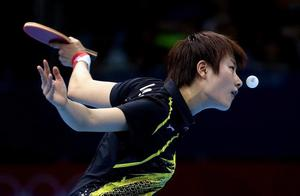 Ning Ding of China plays a forehand during the Women's Singles Table Tennis quarter-final match against Ai Fukuhara of Japan on on Day 4 of the London 2012 Olympic Games at ExCeL on July 31, 2012