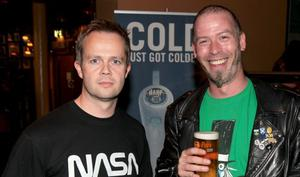 Pictured at the Harp Ice Cold Big Gig, Spring and Airbrake, Belfast are Aaron Everitt and Davy Greer