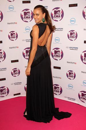 BELFAST, NORTHERN IRELAND - NOVEMBER 06:  Model Irina Shayk attends the MTV Europe Music Awards 2011 at the Odyssey Arena on November 6, 2011 in Belfast, Northern Ireland.  (Photo by Dave J Hogan/Getty Images)