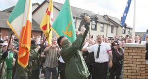 An INLA hunger strike anniversary rally.