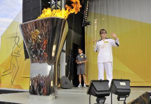 Louise Lyons on the Olympic Torch Relay from Larne to Portrush