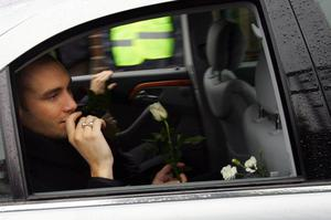 Calum Best in the funeral cortege.