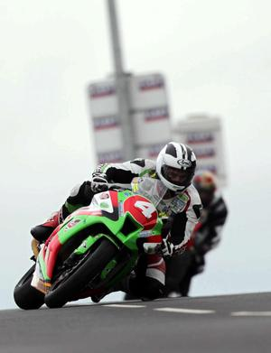 North West 200 practice night 17th May 2011.Superbike practice session.Michael Dunlop.