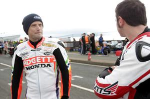 North West 200 practice night 17th May 2011.Bruce Anstey and Michael Dunlop.