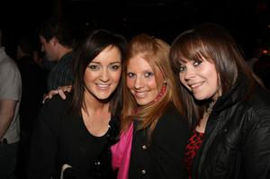 Gemma Bell, Janine Walkingshaw, Suzanne Ross at the Harp Ice Cold Big Gig in the Spring and Airbrake on 26th February
