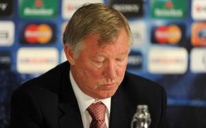 Manchester United manager Sir Alex Ferguson during the press conference at Carrington Training Ground, Manchester. PRESS ASSOCIATION Photo. Picture date: Tuesday October 19, 2010. Photo credit should read: Martin Rickett/PA Wire. RESTRICTIONS: Use subject to restrictions. Editorial print use only except with prior written approval. New media use requires licence from Football DataCo Ltd. Call +44 (0)1158 447447 or see www.pressassociation.com/images/restrictions for full restrictions.