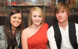 Katie Cummings, Amy Scott and Robert Simpson at the Men's Style Night at the Apartment, Belfast