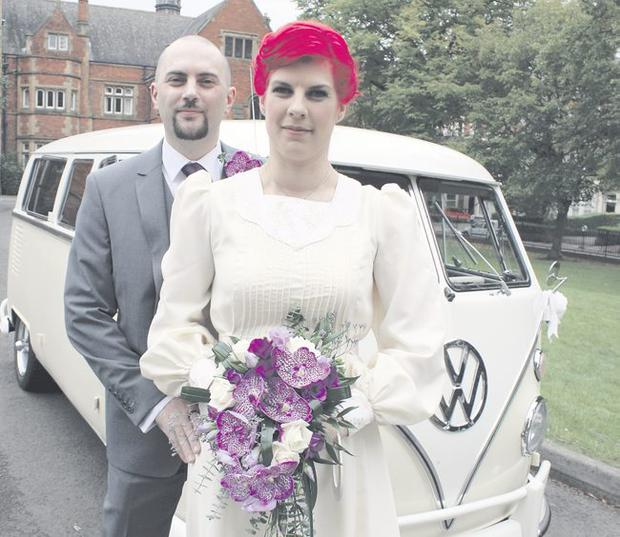 Teen romance: Karl and Nina married almost 14 years after meeting