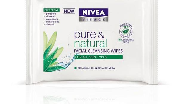 Facial cleansing wipes £3.05, Nivea, available nationwide If you started the year with the remains of last night's make-up, a swipe of these freshly scented wipes imbued with Moroccan argan oil will help.