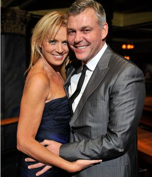 Darren Clarke with Alison Campbell. 'Everything is fantastic at the moment,' he says