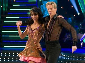 Christine Bleakley with dance partner Matthew Cutler