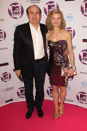 BELFAST, NORTHERN IRELAND - NOVEMBER 06:  President and CEO, Viacom Inc. Phillipe Dauman and Debbie Dauman attend the MTV Europe Music Awards 2011 at the Odyssey Arena on November 6, 2011 in Belfast, Northern Ireland.  (Photo by Dave J Hogan/Getty Images)