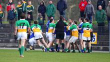 Carrickmore v Dromore: Fighting on the pitch soon spread to the stands