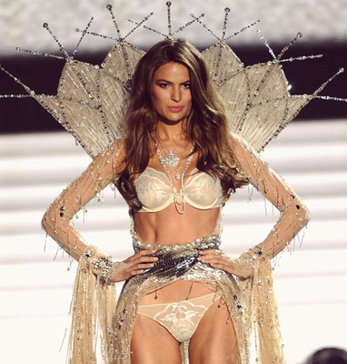 Cameron Russell, on the runway for a Victoria's Secret show, has a keen interest in politics