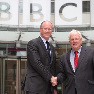 New director-general of the BBC George Entwistle, left, with BBC Trust chairman Lord Patten