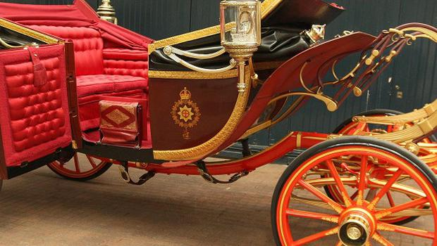 Prince William and Kate Middleton will travel from Westminster Abbey to Buckingham Palace in an open-topped 1902 State Landau