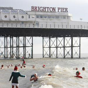Brighton Swimming Club's Christmas Day dip was cancelled due to safety concerns