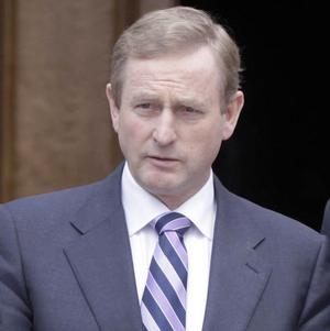 Taoiseach Enda Kenny announced the death of Former Finance Minister Brian Lenihan during a break in The North-South Ministerial Council meeting