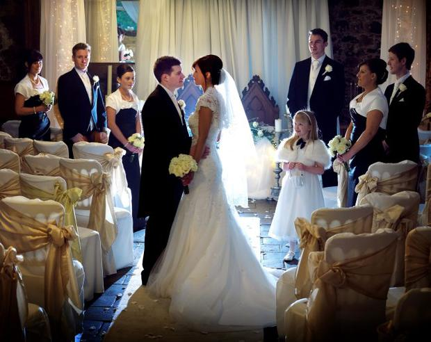 """The wedding of Jane and Andrew Dunbar <p><b>To send us your Wedding Pics <a  href=""""http://www.belfasttelegraph.co.uk/usersubmission/the-belfast-telegraph-wants-to-hear-from-you-13927437.html"""" title=""""Click here to send your pics to Belfast Telegraph"""">Click here</a> </a></p></b>"""