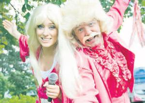 Kevin Wallace and Rachel Friel get ready for the Féile An Phobail Drive-in Movies taking place at Andersonstown Leisure Centre from tomorrow to Monday