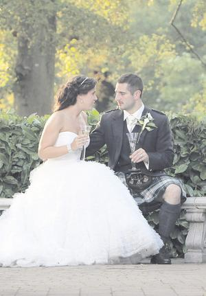 "The wedding of Stephanie Campbell and Andrew Todd on July 2 <p><b>To send us your Wedding Pics <a  href=""http://www.belfasttelegraph.co.uk/usersubmission/the-belfast-telegraph-wants-to-hear-from-you-13927437.html"" title=""Click here to send your pics to Belfast Telegraph"">Click here</a> </a></p></b>"