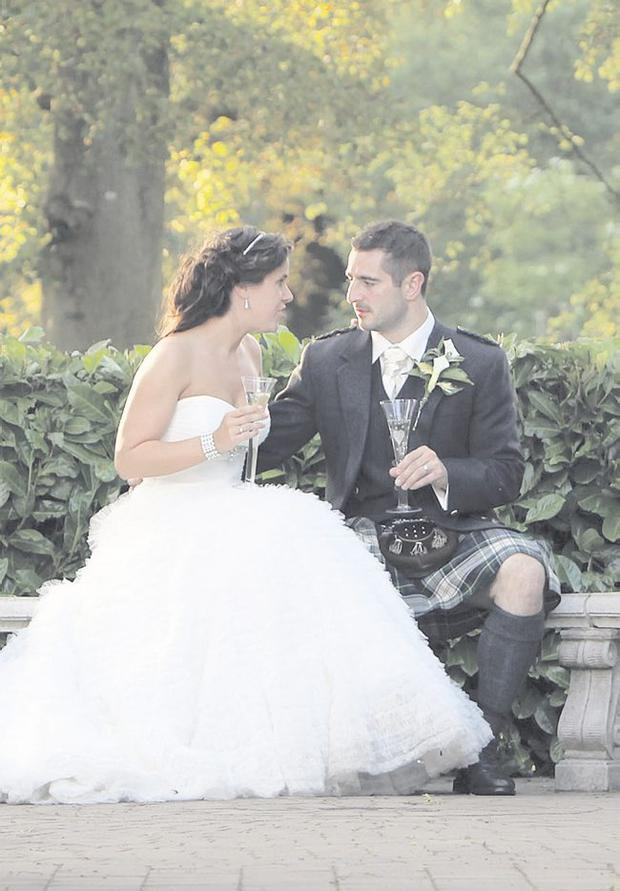 """The wedding of Stephanie Campbell and Andrew Todd on July 2 <p><b>To send us your Wedding Pics <a  href=""""http://www.belfasttelegraph.co.uk/usersubmission/the-belfast-telegraph-wants-to-hear-from-you-13927437.html"""" title=""""Click here to send your pics to Belfast Telegraph"""">Click here</a> </a></p></b>"""