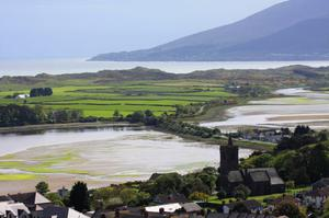 View from Dundrum Castle towards the Mourne Mountains. Submitted by Terry Fitzpatrick, Dundrum