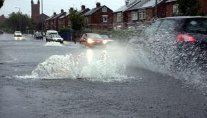 Photographed on the Ballysillan Road, North Belfast on Saturday evening,16th August, by Tim Littler