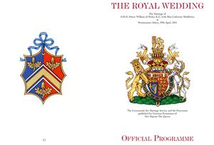 LONDON, ENGLAND - APRIL 19:  Clarence House handout photo, issued April 19, 2011, of the front (right) and back covers of the official souvenir wedding programme for the wedding of Prince William and Kate Middleton. The wedding is due to take place on  April 29, 2011.  (Photo by Royal Household - WPA Pool / Getty Images)