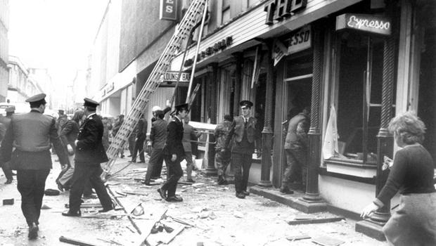 The explosion of a bomb in the crowded central Belfast restaurant, the Abercorn, on 4th March 1972, was one of the most horrific incidents of the Northern Ireland violence. Two women were killed - 130 people injured.