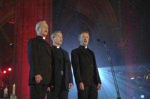 Father Eugene O'Hagan, Father Martin O'Hagan and Father David Delargey, otherwise known as 'The Priests'