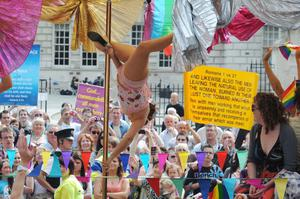 The 21st Gay Pride Parade in Belfast City. July 2011