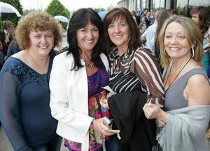 Margret Campbell, Francis Doherty, Maureen McKeever and Clare Campbell at the Boyzone concert in the Odyssey Arena, Belfast