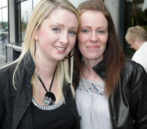Jemma Neely and Michele Moffat at the Boyzone concert in the Odyssey Arena, Belfast