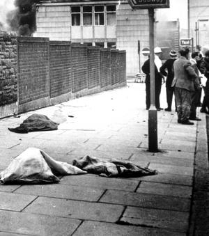 Belfast, Bloody Friday, 21 July, 1972, the IRA set off 26 explosions in Belfast, which killed 11 people and injured 130. 7 people were killed in Oxford Street bus station and 4 at a shopping centre on the Cavehill Road.