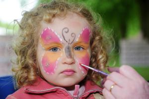 Press Eye Belfast - Northern Ireland 15 May 2011Picture By Declan Roughan PresseyeBelfast Telegraph Runher Event at Stormont Belfast3 year old Elsie Allen getting her face painted at the event.